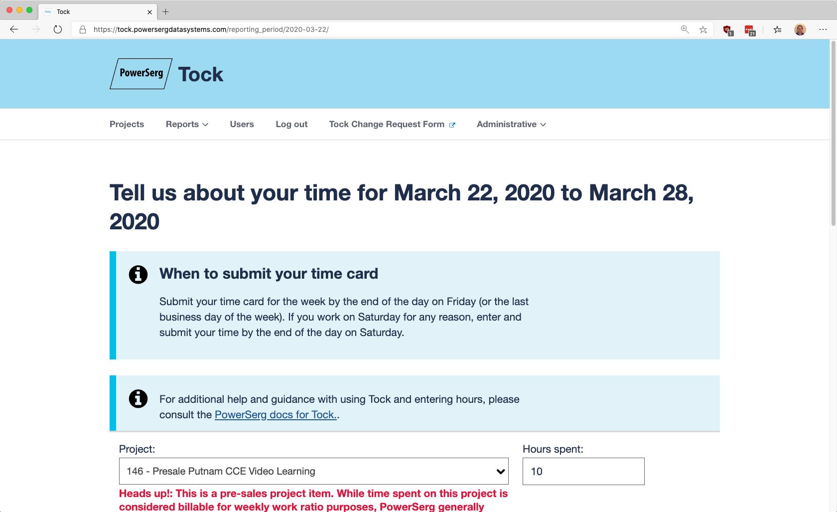 PowerSerg Tock Screenshot